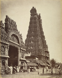 Great Gopuram (152ft) & entrance to Temple, Madura